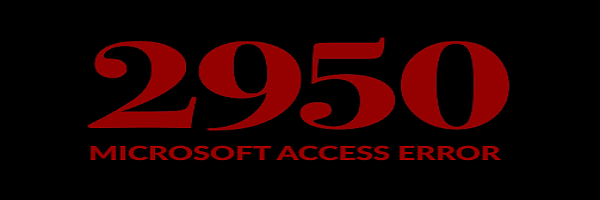 MS Access Error 2950