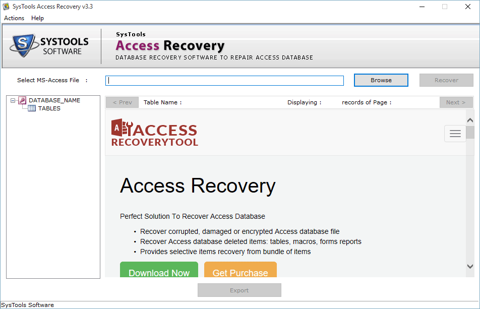 open access recovery tool