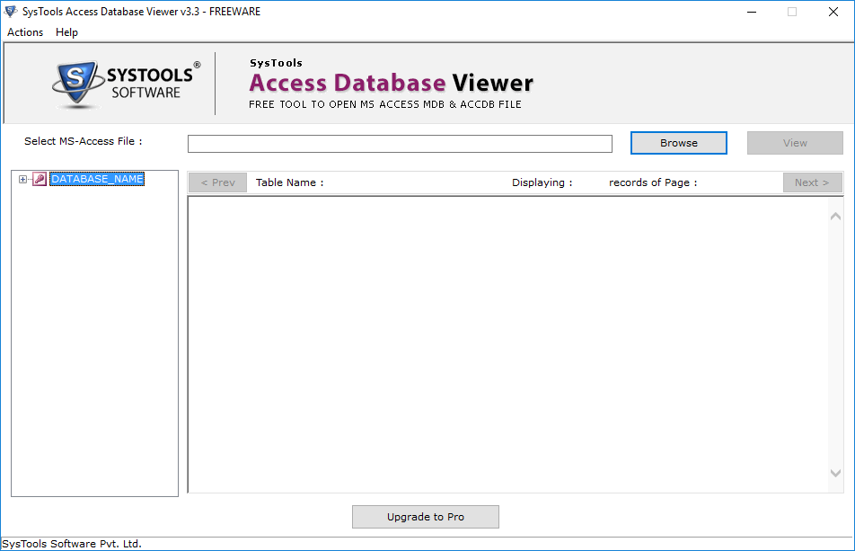 open ms access database file