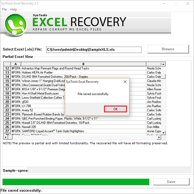Excel repair tool to fix recover corrupted ms office xls files preview repaired xls file data export xls data ibookread PDF